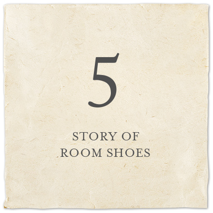 STORY OF ROOM SHOES
